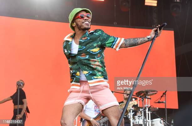Anderson Paak performs at Made in America Day 1 at Benjamin Franklin Parkway on August 31 2019 in Philadelphia Pennsylvania