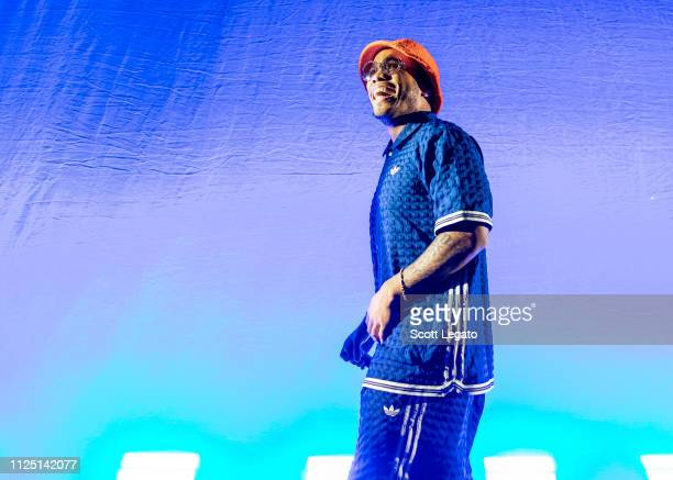 Anderson Paak performs during his Andy's Beach Club Tour 2019 at The Fillmore Detroit on February 15 2019 in Detroit Michigan