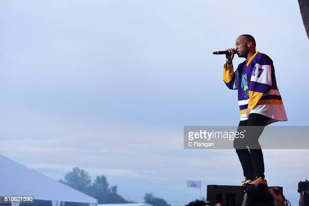 Anderson Paak performs during the 2017 Festival d'ete de Quebec on July 7 2017 in Quebec City Canada
