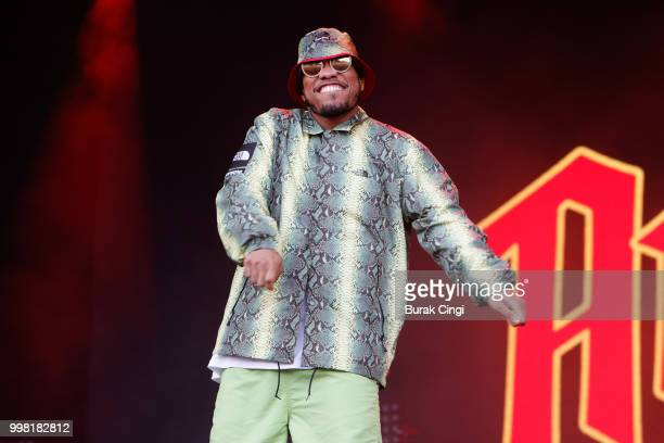 Anderson Paak performs on day 1 of Lovebox festival at Gunnersbury Park on July 13 2018 in London England