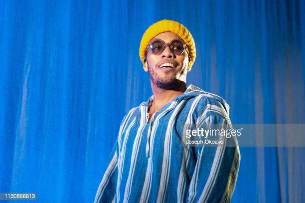 Anderson Paak performs on stage at Alexandra Palace on March 15 2019 in London England