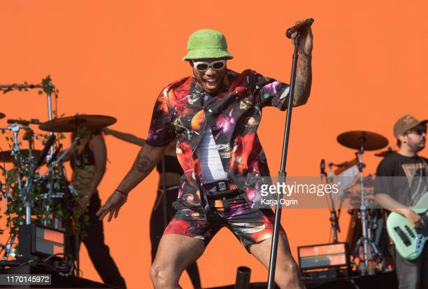 Anderson Paak performs on stage during Leeds Festival 2019 at Bramham Park on August 25 2019 in Leeds England