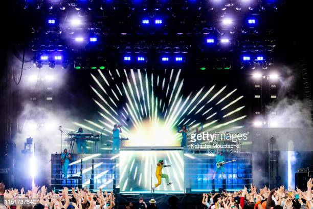 Anderson Paak performs onstage during Day 2 of 2019 Boston Calling Music Festival on May 25 2019 in Boston Massachusetts