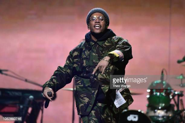 Anderson Paak performs onstage during the 4th Annual TIDAL X Brooklyn at Barclays Center of Brooklyn on October 23 2018 in New York City