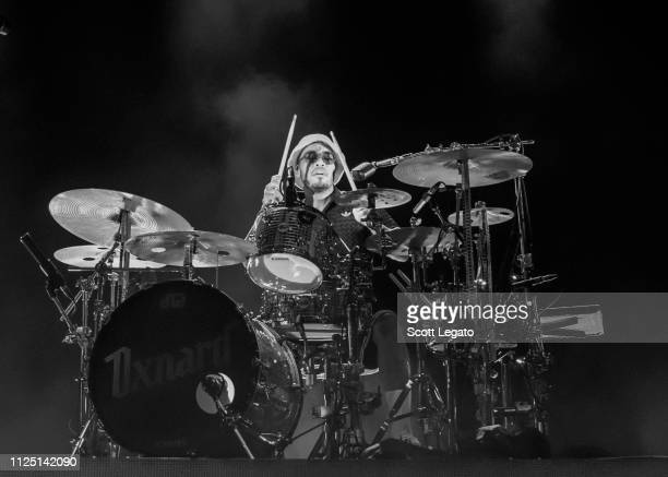 Anderson Paak plays the drum during his Andy's Beach Club Tour 2019 at The Fillmore Detroit on February 15 2019 in Detroit Michigan