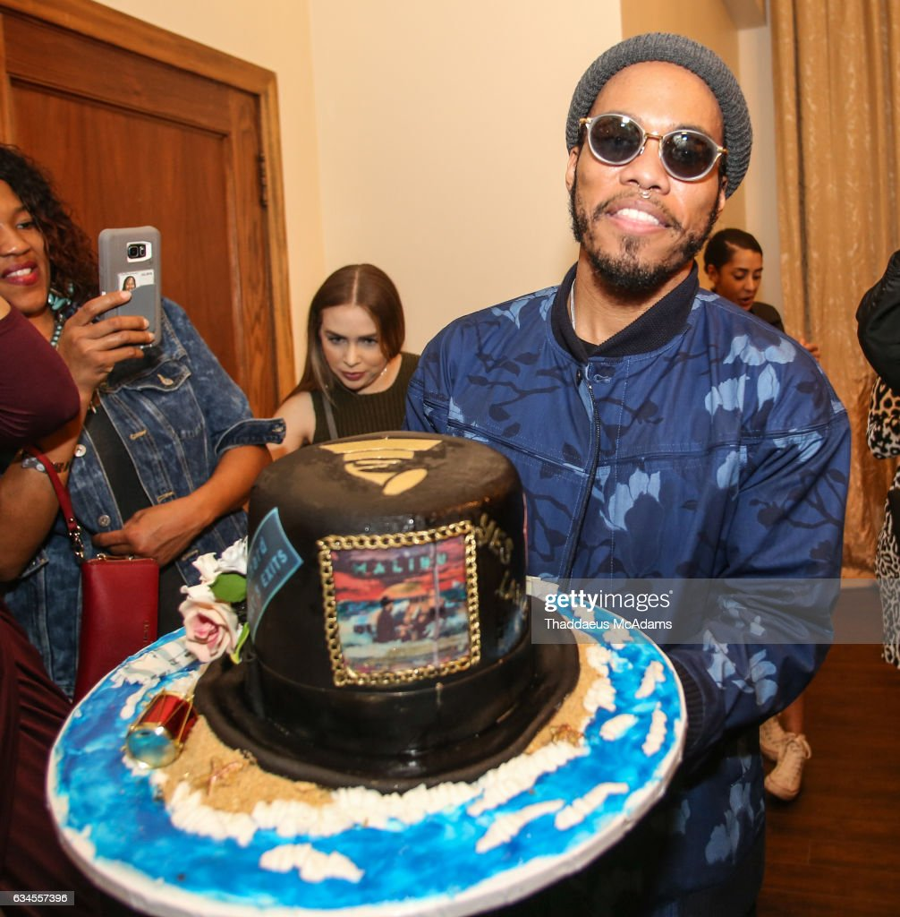 Anderson Paak poses for a picture at his birthday party at The MacArthur on February 9, 2017 in Los Angeles, California.