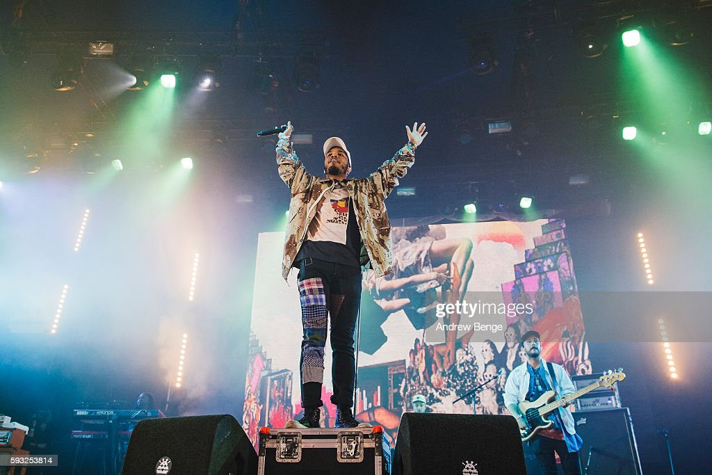 Anderson .Paak & The Free Nationals perform on the Bravo Stage during day 3 of Lowlands Festival 2016 on August 21, 2016 in Biddinghuizen, Netherlands.
