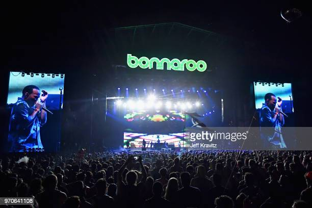 Anderson .Paak & The Free Nationals performs on What Stage during day 3 of the 2018 Bonnaroo Arts And Music Festival on June 9, 2018 in Manchester,...