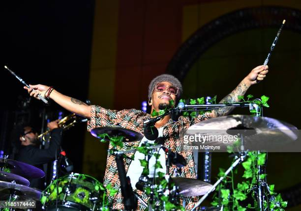 Anderson Paak wearing Gucci performs onstage at the 2019 LACMA Art Film Gala Presented By Gucci at LACMA on November 02 2019 in Los Angeles California