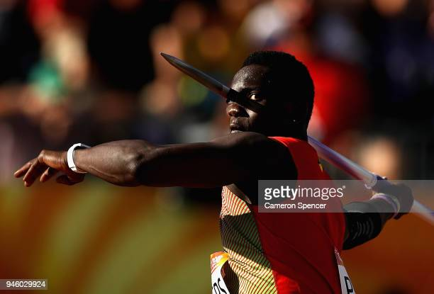Anderson Peters of Grenada competes in the Men's Javelin final during athletics on day 10 of the Gold Coast 2018 Commonwealth Games at Carrara...