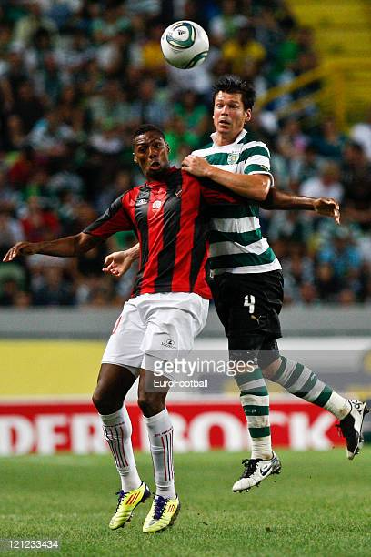 Anderson Polga of Sporting Clube de Portugal in action during the Portuguese Primeira Liga ZON Sagres match between Sporting Lisbon and Olhanense at...