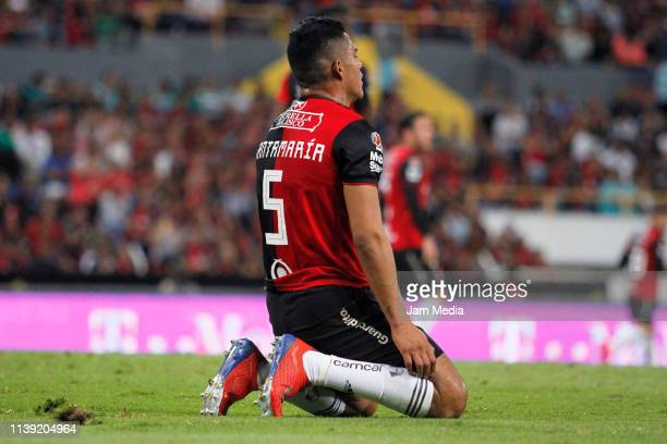 Anderson Santamaria of Atlas laments during the 12th round match between Atlas and Santos Laguna as part of the Torneo Clausura 2019 Liga MX at...
