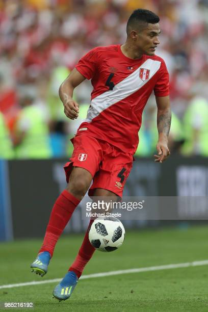 Anderson Santamaria of Peru during the 2018 FIFA World Cup Russia group C match between Australia and Peru at Fisht Stadium on June 26 2018 in Sochi...
