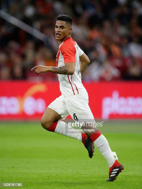 Anderson Santamaria of Peru during the International Friendly match between Holland v Peru at the Johan Cruijff Arena on September 6 2018 in...