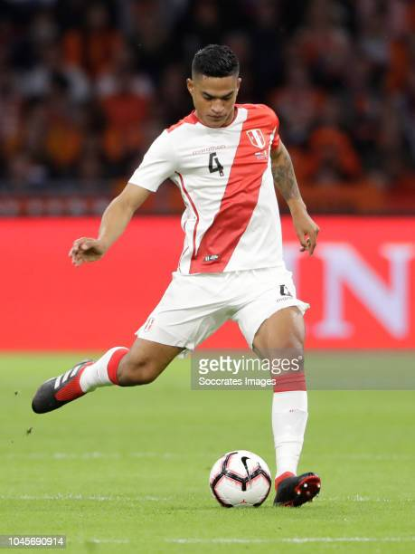 Anderson Santamaria of Peru during the International Friendly match between Holland v Peru at the Johan Cruijff Arena on September 6, 2018 in...
