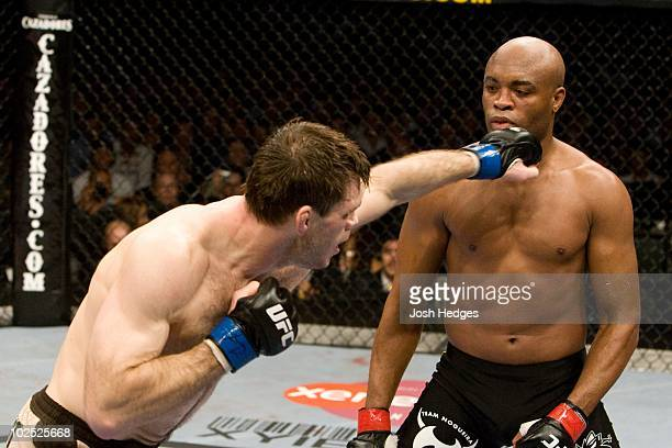 Anderson Silva def. Forrest Griffin - KO - 3:23 round 1 during UFC 101 at Wachovia Center on August 8, 2009 in Philadelphia, Pennsylvania.