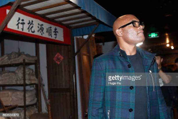 Anderson Silva legendary Brazilian mixed martial artist in the Oriental Pearl tower on September 25 2017 in Shanghai China