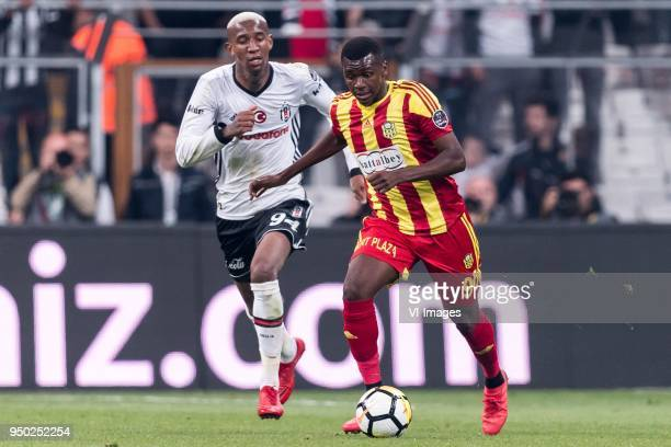 Anderson Souza Conceicao of Besiktas JK Abdoulaye Sadio Diallo of Evkur Yeni Malatyaspor during the Turkish Spor Toto Super Lig football match...