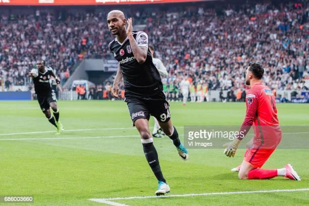 Anderson Souza Conceicao of Besiktas JK celebrate his goalduring the Turkish Spor Toto Super Lig football match between Besiktas JK and Kasimpasa AS...