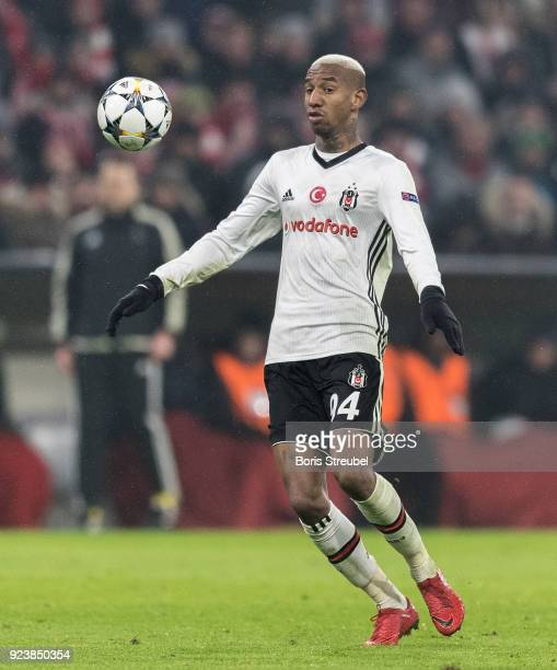 Anderson Talisca of Besiktas Istanbul runs with the ball during the UEFA Champions League Round of 16 First Leg match between Bayern Muenchen and...