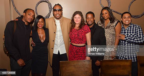 Anderson Traci Adams Future Lisa Deluca Courtney Lowery Latrice Burnette and Anthony Salah attends BMI dinner honoring Future at 10 degrees South...