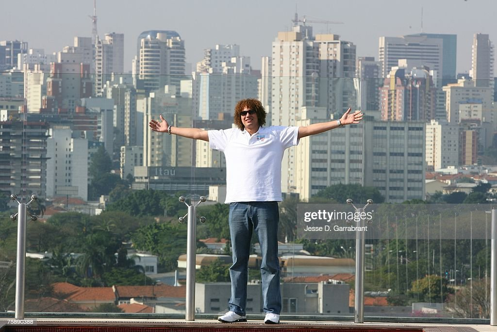 Anderson Varejao of the Cleveland Cavaliers poses for a photo during Basketball Without Borders at Hotel Unique on July 31, 2007 in Sau Paulo, Brazil.