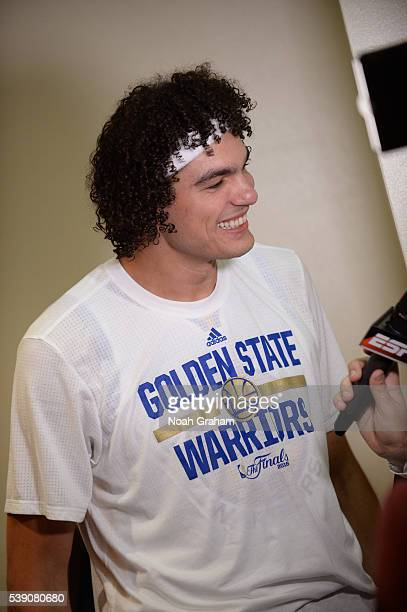 Anderson Varejao of the Golden State Warriors before facing the Cleveland Cavaliers for Game Two of the 2016 NBA Finals on June 5 2016 at ORACLE...