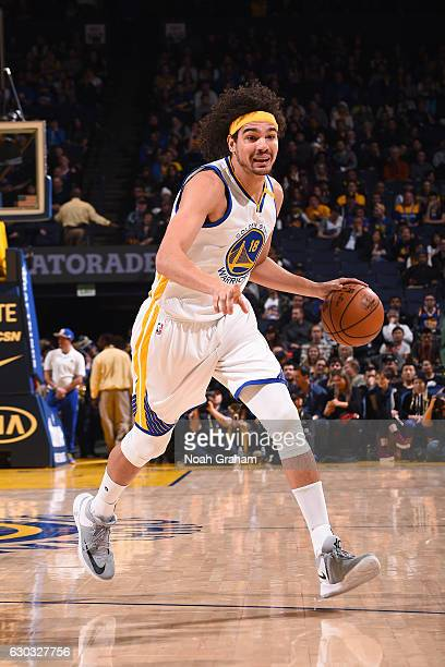 Anderson Varejao of the Golden State Warriors handles the ball against the Utah Jazz on December 20 2016 at ORACLE Arena in Oakland California NOTE...