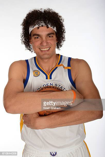 Anderson Varejao of the Golden State Warriors poses for a portrait during NBA Media Day at Oracle Arena in Oakland California on September 26 2016...
