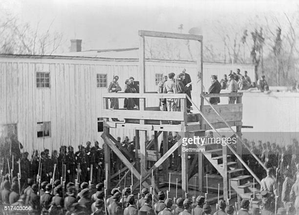 Andersonville Prison Trials November 1865 Reading of the death warrant to Wirtz on the scaffold He was tried and executed for the intolerable...
