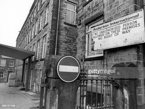 Anderton International, Bingley, where Peter Sutcliffe worked, 29th January 1981.