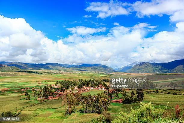 Andes landscape in Peru, near Cusco city, Peru
