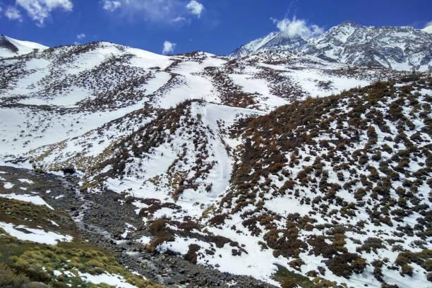 Andes mountain range in Mendoza, Argentina