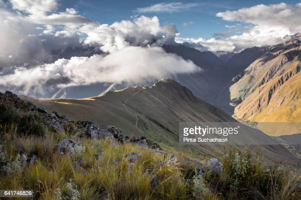 Andes Mountain View Along the Inca Trail to Machu Picchu, Peru