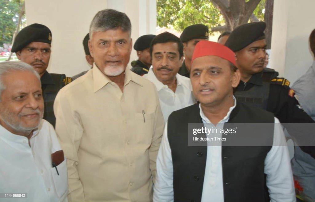 IND: Andhra Pradesh Chief Minister N Chandrababu Naidu Meets SP Chief Akhilesh Yadav In Lucknow
