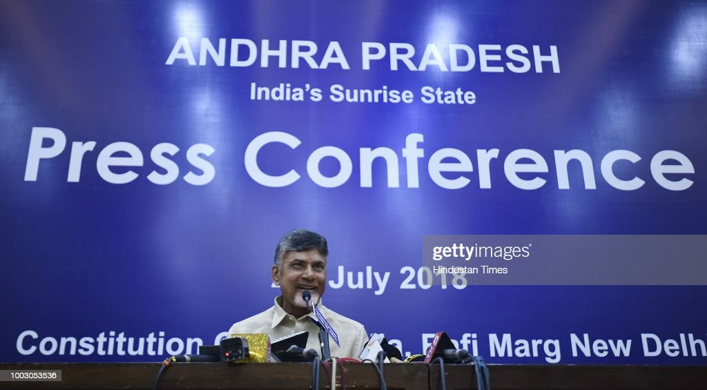 Press Conference Of Andhra Pradesh Chief Minister N. Chandrababu Naidu At Constitutional Club