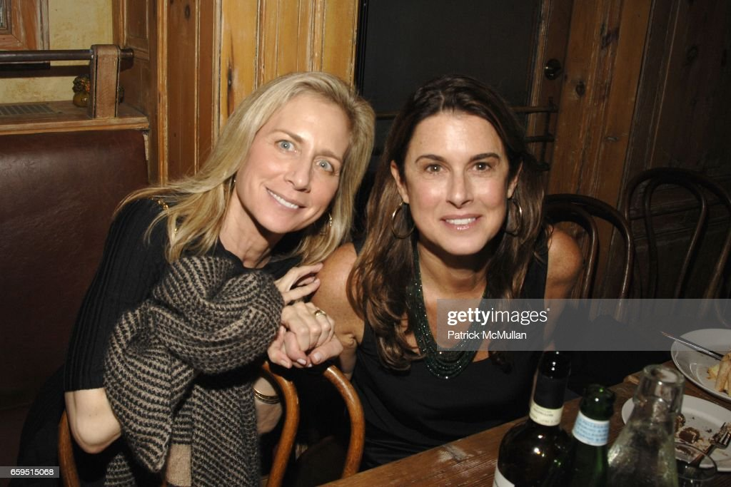 Andi Bernstein and Betsy Ross attend CLIFFORD ROSS post-opening dinner at Morandi Restaurant on October 24, 2009 in New York City.