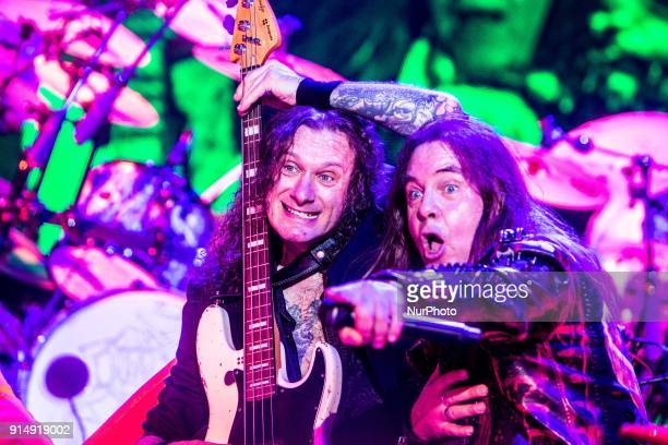 Andi Deris German power metal band Helloween live in Milano for the quotPumpkins Unitedquot tour with new and old members of the band in Milan Italy...