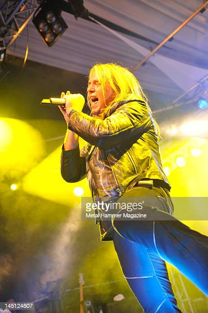Andi Deris of Helloween live on stage at Hard Rock Hell on December 4 2010