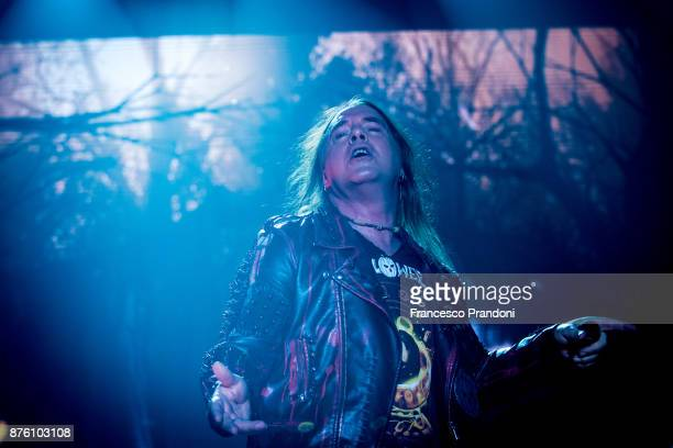 Andi Deris of Helloween performs at Forum on stage on November 18 2017 in Milan Italy