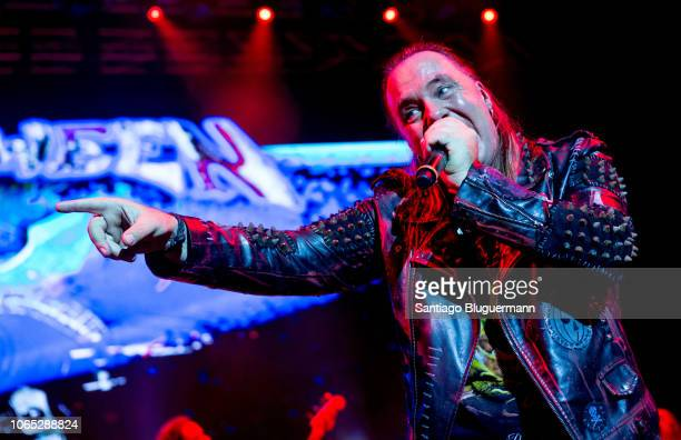 Andi Deris performs during a concert as part of Pumpkins United World Tour at Luna Park on November 8 2018 in Buenos Aires Argentina