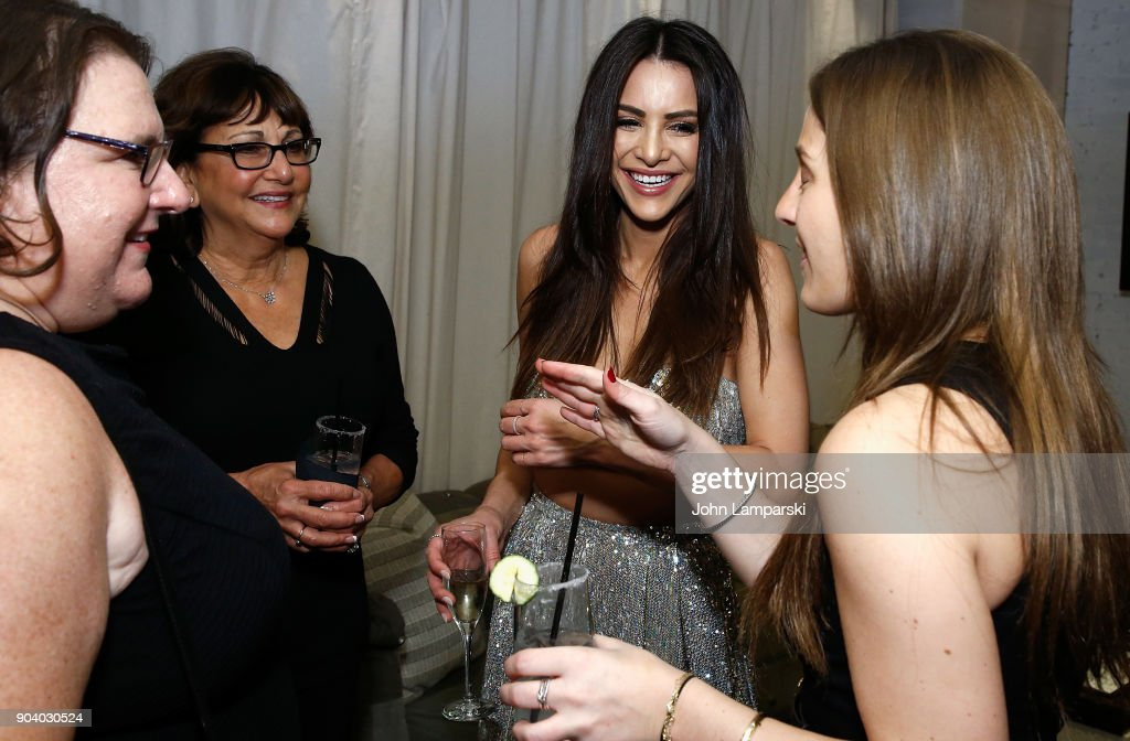 Andi Dorfman and guests celebrate her new book 'Single State Of Mind' at Moxy Times Square on January 11, 2018 in New York City.