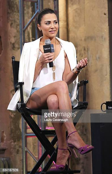Andi Dorfman attends AOL Build Speaker Series to discuss her book It's Not Okay at AOL Studios In New York on May 25 2016 in New York City