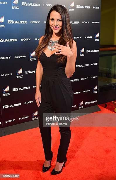Andi Dorfman attends the advanced screening of The Equalizer at AMC Phipps Plaza on September 16 2014 in Atlanta Georgia