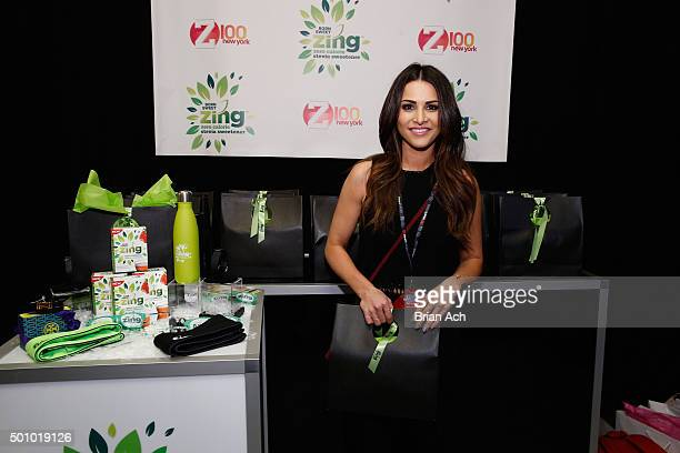 Andi Dorfman attends Z100's Jingle Ball 2015 Z100's Artist Gift Lounge at Madison Square Garden on December 11 2015 in New York City