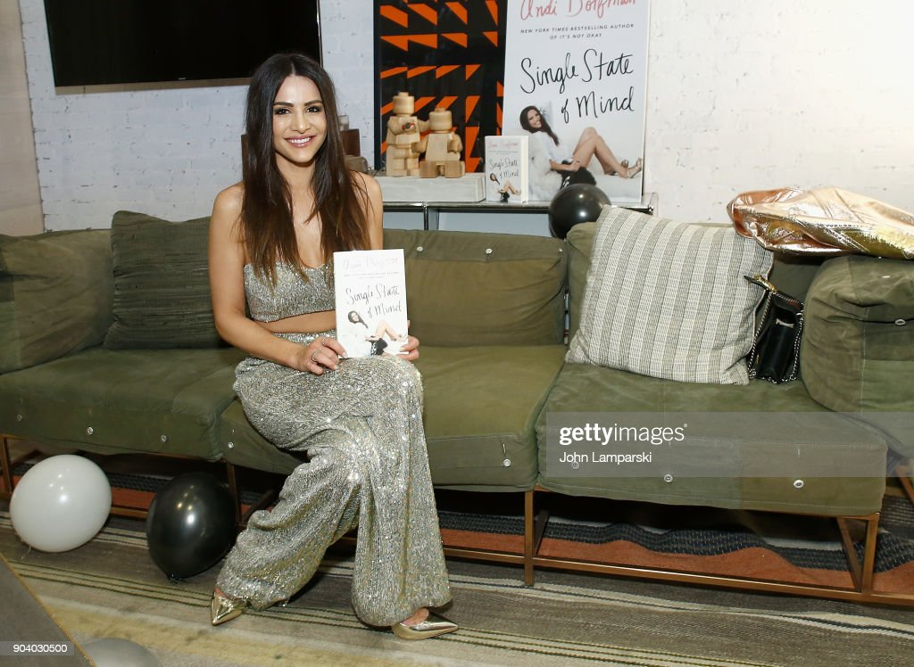 Andi Dorfman celebrates her new book 'Single State Of Mind' at Moxy Times Square on January 11, 2018 in New York City.