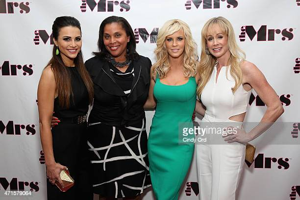 Andi Dorfman CEO of Dress For Success Joi Gordon Jenny McCarthy and founder and drummer of The Mrs Andra Liemandt attend The Mrs Jenny McCarthy's...