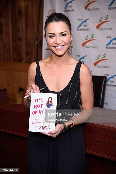 """Andi Dorfman Signs Copies Of Her New Book """"It's Not Okay Turning Heartbreak Into Happily Ever After"""" at Bookends Bookstore on May 25, 2016 in..."""