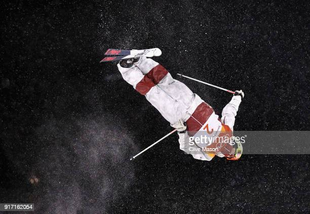 Andi Naude of Canada competes during the Freestyle Skiing Ladies Moguls on day two of the PyeongChang 2018 Winter Olympic Games at Pheonix Snow Park...