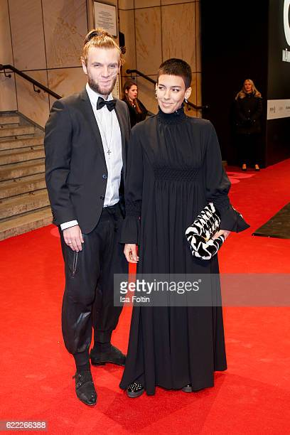 Andi Weizel and Alina Sueggeler of the band Frida Gold attend the GQ Men of the year Award 2016 at Komische Oper on November 10 2016 in Berlin Germany